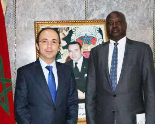 Le ministre de la Santé reçoit le ministre des Affaires étrangères et de la coopération internationale de la République du Soudan du Sud