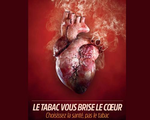 « Le tabac vous brise le cœur. Choisissez la santé, pas le tabac »
