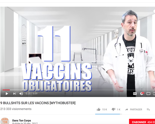 Des vidéos sur «YouTube» pour contrecarrer les lobbys anti-vaccins